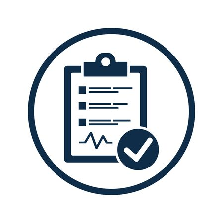 Beautiful design and fully editable Diagnostic Report Icon for commercial, print media, web or any type of design projects. Vectores