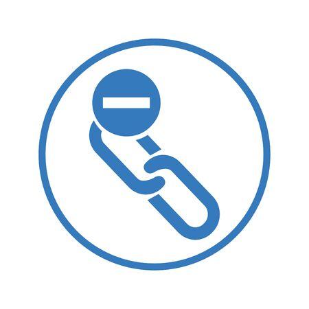 icône de suppression de lien Vecteurs
