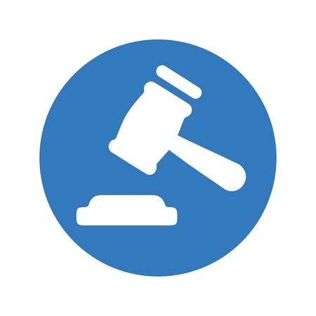 Beautiful design and fully editable Gavel / Hammerer Icon for commercial, print media, web or any type of design projects. Vector Illustration