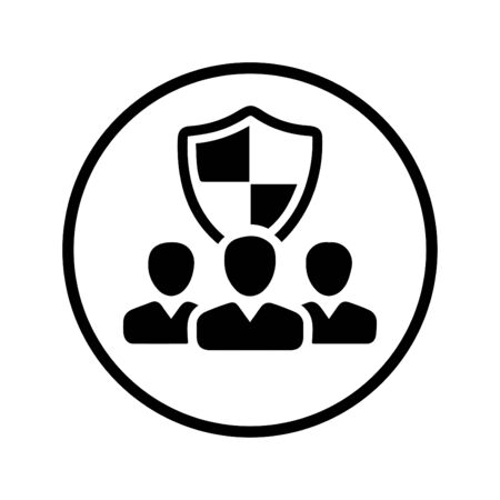 Beautiful design and fully editable Security Shield Icon, Employment Security Icon for commercial, print media, web or any type of design projects.  イラスト・ベクター素材