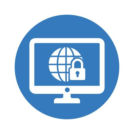 Well organized and fully editable Internet safety, network protection, website security icon for any use like print media, web, commercial use or any kind of design project. Ilustrace