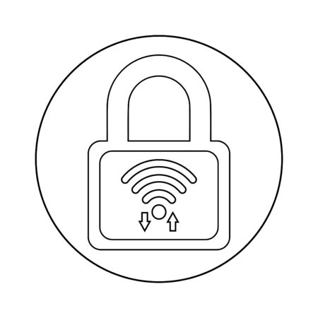 Creative element design from stock market icons collection. Pixel perfect WiFi password lock, protection, security Icon for commercial, print media, web or any type of design projects.