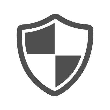Hermoso diseño y ícono de escudo de seguridad totalmente editable, ícono de seguridad laboral para proyectos comerciales, impresos, web o de cualquier tipo. Ilustración de vector