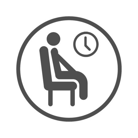 Attente, icône du temps qui passe Vecteurs