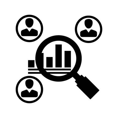 Icono de investigación de mercado Ilustración de vector