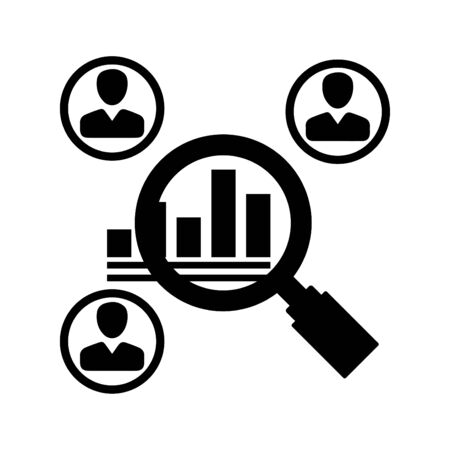 Market research Icon Vetores