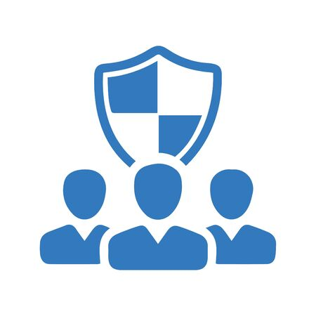 Beautiful design and fully editable Security Shield Icon, Employment Security Icon for commercial, print media, web or any type of design projects. Illusztráció