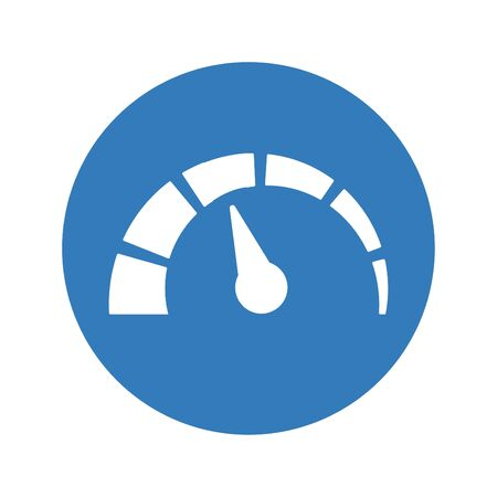 Well organized and fully editable Speedometer Icon for any use like print media, web, commercial use or any kind of design project. Ilustrace