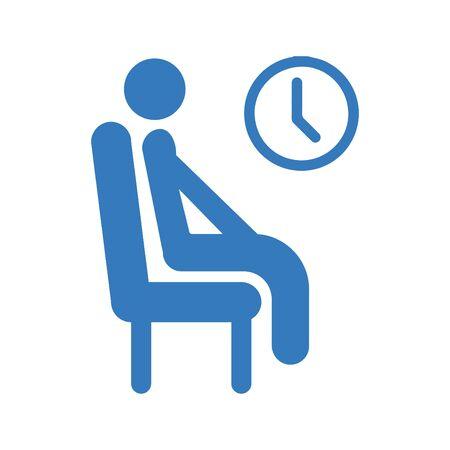 Esperando, pasando el icono del tiempo