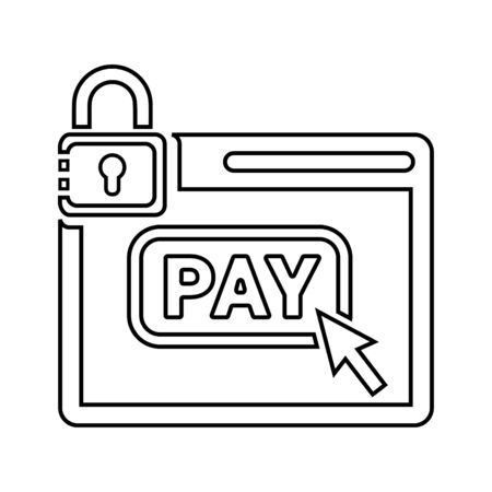Beautiful, meticulously designed Online payment, secure pay icon. Perfect for use in designing and developing websites, printed files and presentations, stock images, Promotional Materials, Illustrations or Info graphic or any type of design projects.