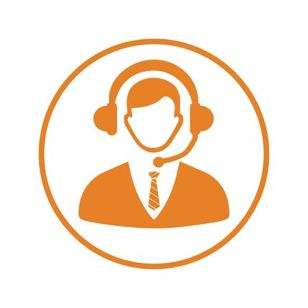 Creative element design from stock market icons collection. Pixel perfect Call center, consultant, service, customer support icon for commercial, print media, web or any type of design projects.