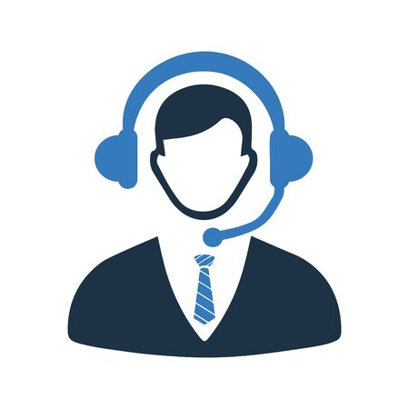 Creative element design from stock market icons collection. Pixel perfect Call center, consultant, service, customer support icon for commercial, print media, web or any type of design projects. Stock fotó - 137880388
