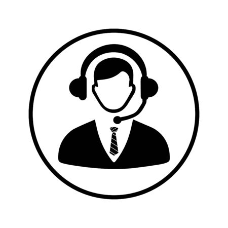 Creative element design from stock market icons collection. Pixel perfect Call center, consultant, service, customer support icon for commercial, print media, web or any type of design projects. Stock fotó - 137881024