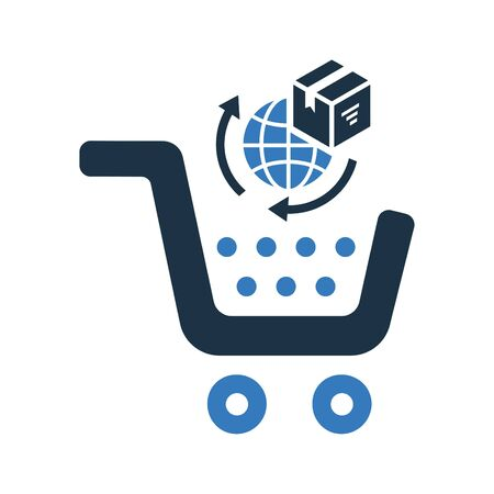 Creative element design from stock market icons collection. Pixel perfect Global, international, shopping vector icon for commercial, print media, web or any type of design projects. Vectores