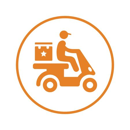 Creative element design from stock market icons collection. Pixel perfect Delivery boy, courier, product shipping icon for commercial, print media, web or any type of design projects.