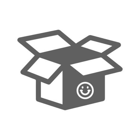 Creative element design from stock market icons collection. Pixel perfect Open box icon, empty packet for commercial, print media, web or any type of design projects.