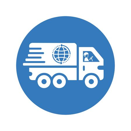 Beautiful design and fully editable Fast worldwide delivery icon, Quick shipping, transportation for commercial, print media, web or any type of design projects.