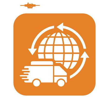 Well organized and fully editable Global delivery, fast delivery, worldwide shipping icon for any use. Thanks for using it. Vettoriali