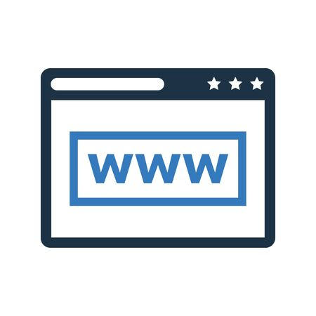 Web browser icon, internet browser for commercial, print media, web or any type of design projects. Иллюстрация