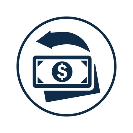 Money refund icon, fast cash return for any use like print media, web, stock images, commercial use or any kind of design project. Hope this icon help you. Thanks for using it. Illusztráció