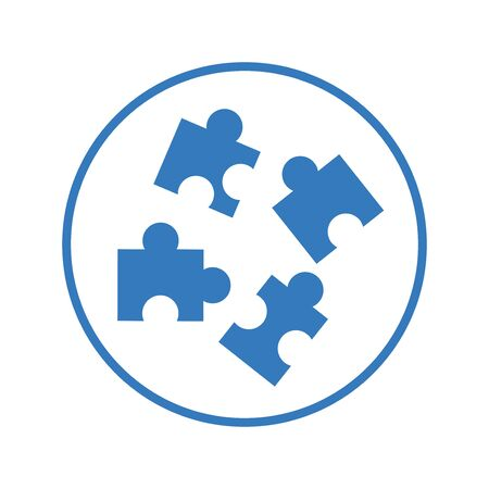 Puzzle icon, solution, strategy vector for commercial, print media, web or any type of design projects. Illustration