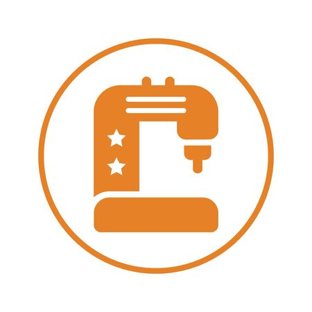 Sewing machine icon, manufacturing device - Perfect for use in designing and developing websites, printed files and presentations, stock images, Promotional Materials, Illustrations or Info graphic or any type of design projects.