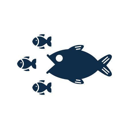 Business, competition, competitors icon, fish hunting vector design