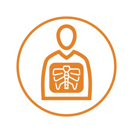 Well organized and fully editable x-ray icon, skeleton, Patient, radiology, x ray vector icon for vector stock and many other purposes.