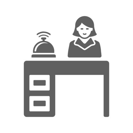 Well organized and fully editable Desk, hotel reception, lobby, manager, service icon for any use like print media, web, stock images, commercial use or any kind of design project. Hope this icon help you. Thanks for using it. Illustration