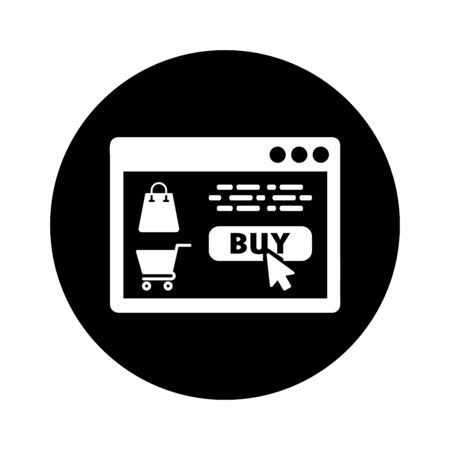 Nice design of the Online shopping icon. eCommerce buying for commercial, print media, web or any type of design projects.