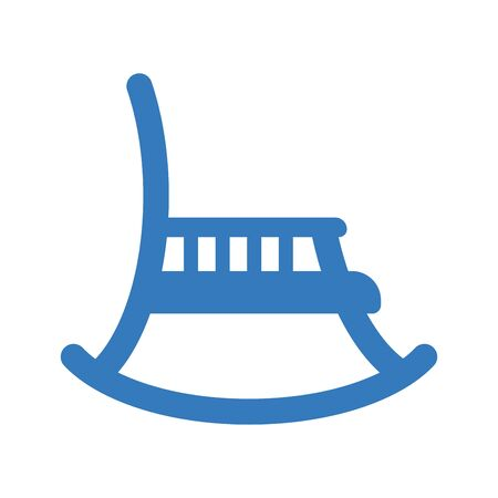 Rocking chair blue icon, vector graphics for commercial, print media, web or any type of design projects. Vektorgrafik