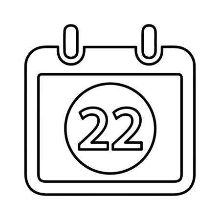 Schedule icon, annual delivery date, event time for commercial, print media, web or any type of design projects. Ilustracja