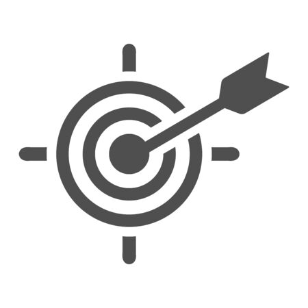 Beautiful, meticulously designed Business goal or target icon, dart board. Well organized and fully editable Vector icon for vector stock and many other purposes. Vettoriali