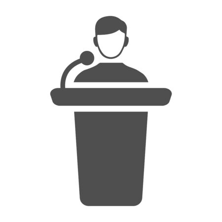 Beautiful, meticulously designed of Conference presentation icon, presenter, speaker.