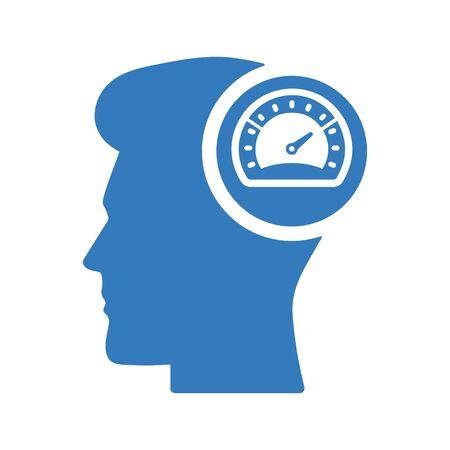 Productivity, speed, speedometer, work performance icon.