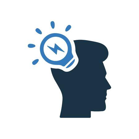 Brainstorming, business idea, creativity, light Illusztráció
