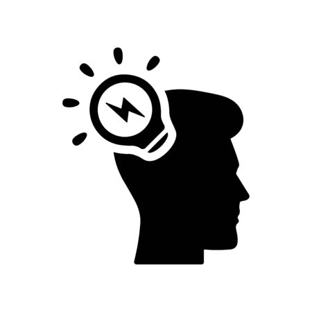 Brainstorming, business idea, creativity, light bulb icon.