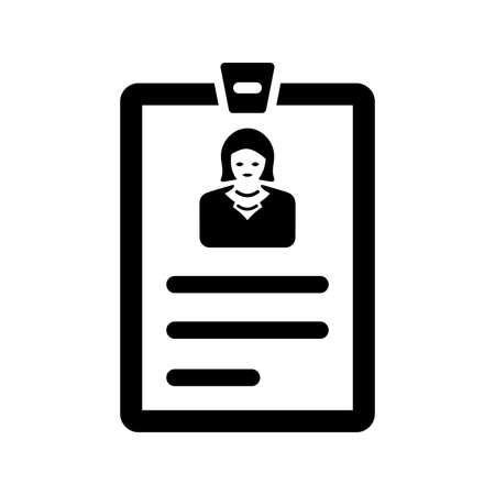 Id card icon. Perfect use for print media, web, stock images, commercial use or any kind of design project.