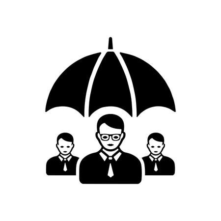 Employee Insurance icon / Job security. Use for commercial, print media, web or any type of design projects.