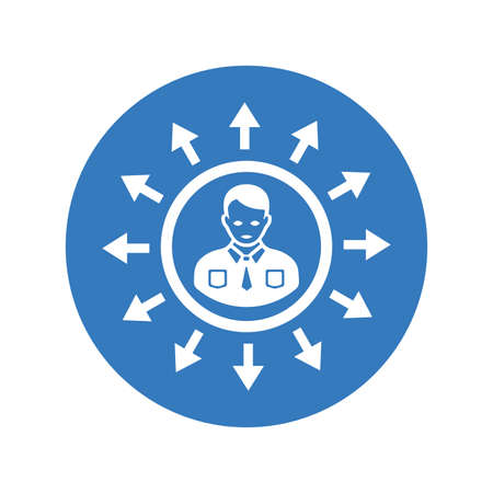 Direction icon. Use for commercial, print media, web or any type of design projects.  イラスト・ベクター素材