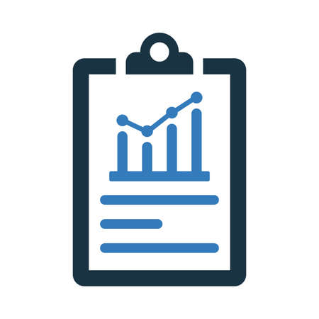 Growth report icon. Perfect for use in designing and developing websites, printed files and presentations, Promotional Materials or any type of design projects.
