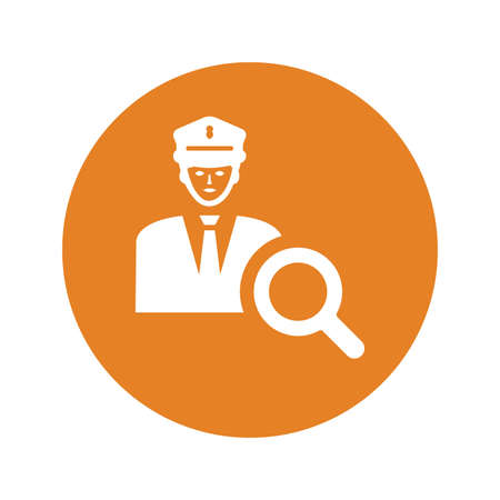 Police help icon. Perfect for use in designing and developing websites, printed files and presentations, Promotional Materials or any type of design projects.