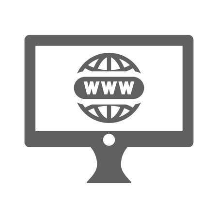 Domain registration icon. Use for commercial, print media, web or any type of design projects.
