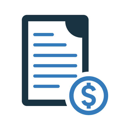 Bill, invoice icon. Beautiful, meticulously designed icon. Well organized and editable Vector for any uses.