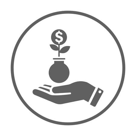 Investment, profit icon. Perfect use for print media, web, stock images, commercial use or any kind of design project. Ilustrace