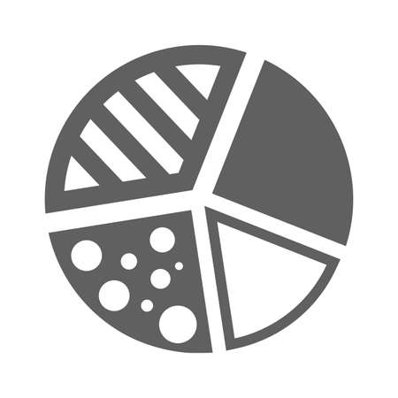 Pie chart icon. Use for commercial, print media, web or any type of design projects. Ilustrace