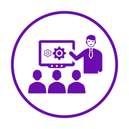 Meeting, presentation icon. Use for commercial, print media, web or any type of design projects.