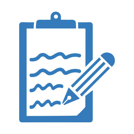 Content writing icon. Use in designing and developing websites, commercial, print media, web or any type of design projects.