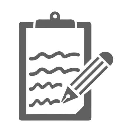 Content writing icon. Use in designing and developing websites, commercial, print media, web or any type of design projects. Ilustrace