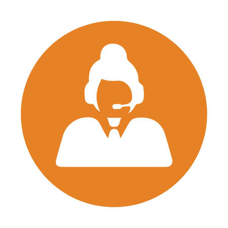 Customer support icon. Use in designing and developing websites, commercial, print media, web or any type of design projects.
